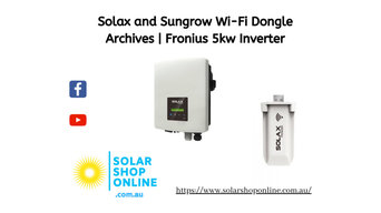 Solax and Sungrow Wi-Fi Dongle Archives | Solar Shop Online