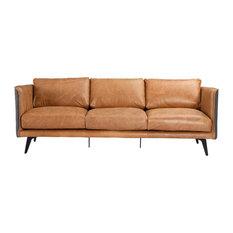 Messina Leather Sofa, Cognac