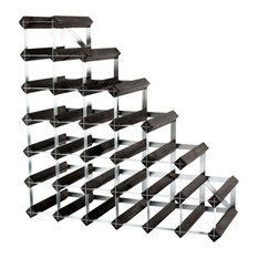 Classic Under-Stair Wine Rack, Galvanised Steel and Black Stained Wood