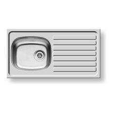 Pyramis Kitchen Sink & Tap Pack - 1B1D Inset Sink