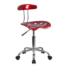 acrylic office chairs. flash furniture babbage tractor seat swivel chair wine red office chairs acrylic