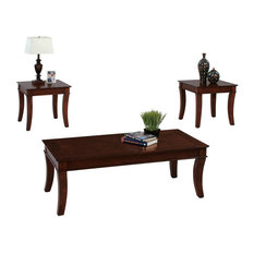 P304-95 Cocktail Table and 2 End Tables, 3-Piece
