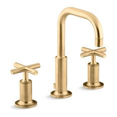 Kohler Purist Widespread Lavatory Faucet, Vibrant Moderne Brushed Gold