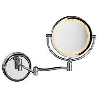 Dainolite LEDMIR-1W-PC Swing Arm Led Lighted Magnifier Mirror