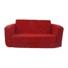 Fun Furnishings   Toddler Flip Sofa Red Micro   Kids Chairs