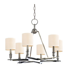 Bethesda 6-Light Chandelier, Aged Silver