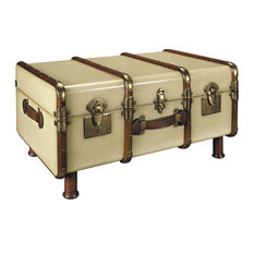 Authentic Models   Stateroom Trunk Table, Ivory   Coffee Tables