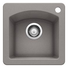 Blanco 440203 Granite Bar Kitchen Sink, Metallic Gray