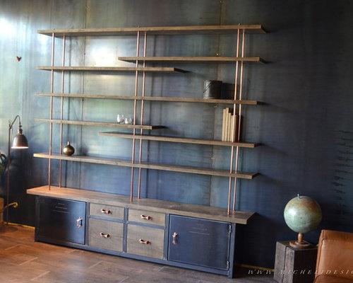 nos biblioth ques tag res de style industriel. Black Bedroom Furniture Sets. Home Design Ideas