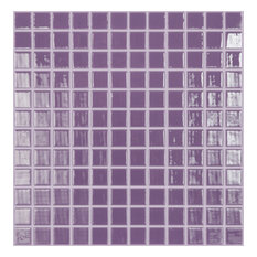 "12.5""x12.5"" Purple Lilac Glass Tile"