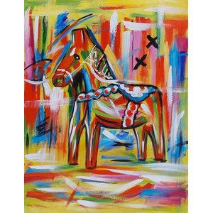 """ValleyHorse"" Acrylic Painting, 80x100 cm"