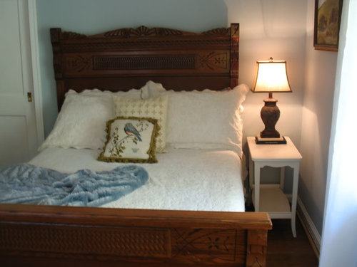 converting antique double bed to queen. Black Bedroom Furniture Sets. Home Design Ideas
