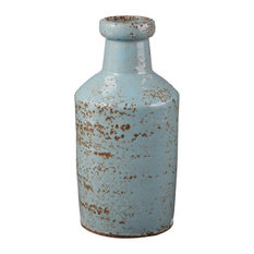 Rustic Ocean Milk Bottle, Gray, Blue