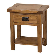Cotswold Solid Oak 1-Drawer Lamp Table Rustic