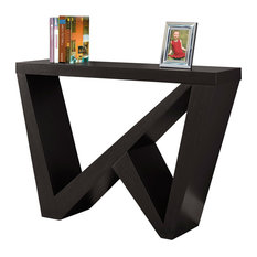 Hall Console Accent Table Cappuccino