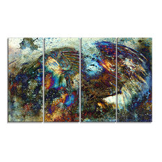 """""""Indian Woman Collage With Lion Woman Canvas Print, 48""""x28"""""""
