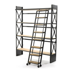 Outstanding Industrial Bookcases Houzz Largest Home Design Picture Inspirations Pitcheantrous