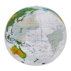 "16"" Topographic Clear Globe"