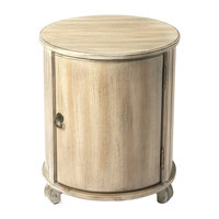 Butler Drum Table, Black Licorice, Driftwood
