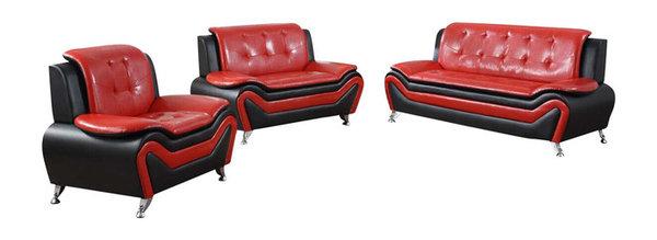 Modern Bonded Leather Sofa Set Modern Living Room