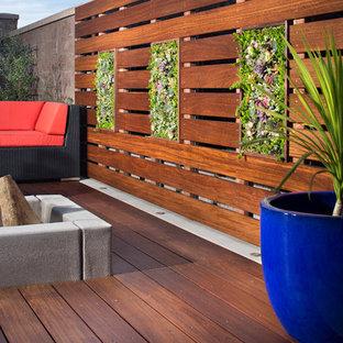 Idee per un piccolo giardino contemporaneo esposto a mezz'ombra dietro casa in primavera con pedane