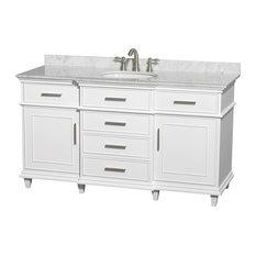 """Wyndham Collection - Berkeley 60"""" Bathroom Vanity Without Mirror - Bathroom Vanities and Sink Consoles"""