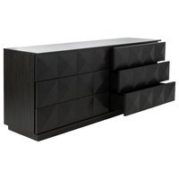 Safavieh Patty 6 Drawer Dresser, Black