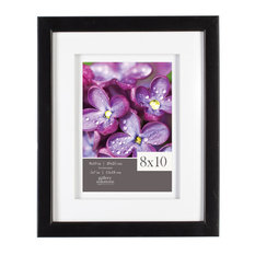 """Photo Frame With White Airfloat Mat, Black, 8""""x10"""""""