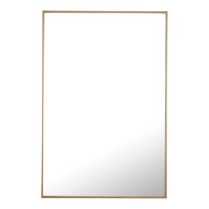 "28""x42"" Rectangle Metal Frame Mirror, Brass"