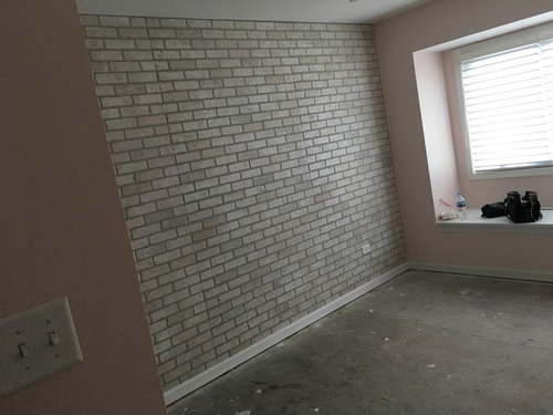 Brick Wall In Bedroom And Room Color