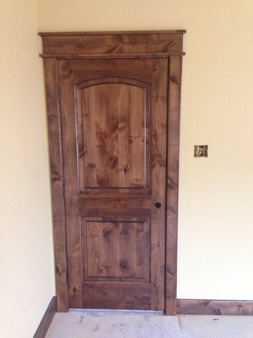 Solid Knotty Alder Wood Interior Doors With Dark Walnut Stain And A Satin Finish