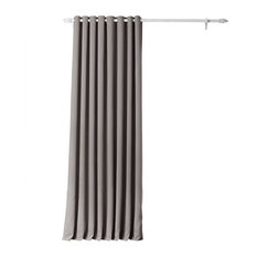 "Neutral Gray Grommet Doublewide Blackout Curtain Single Panel, 100""x120"""