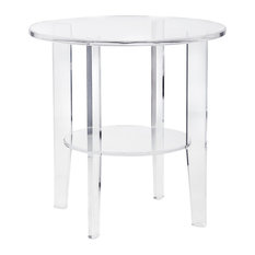 imax worldwide home estelle acrylic accent table side tables and end tables
