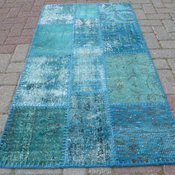 Vintage Overdyed Turkish Area Rug by SofArt
