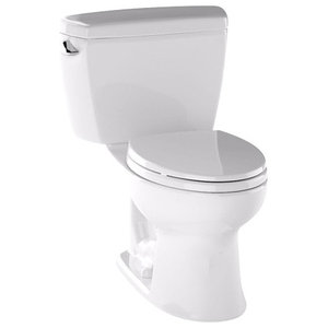 """Toto Drake, 2-Piece Toilet With 10"""" Rough-In And Elongated Bowl, Cotton"""