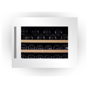 Dunavox 28 Bottle Fully Integrated Single Zone Wine Fridge, White