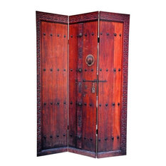 6' Tall Double Sided Doors Canvas Room Divider