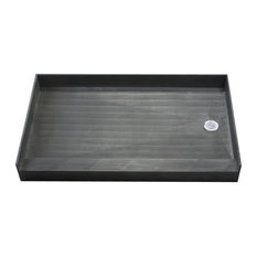 """Tile Redi 4260R 42"""" x 60"""" Three Wall Alcove Shower Pan with Single Curb and 2"""""""