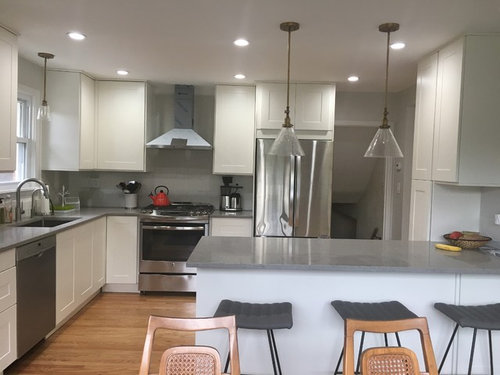 Has Anybody Found Off White Subway Tile Backsplash That Matches Grimslov Cabinets Important Looking For Something Reasonably Priced From Home Depot Or