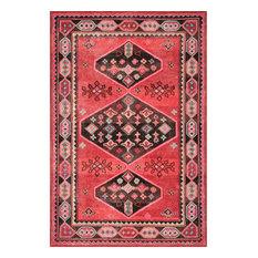 nuLOOM Handmade Wool Tribal Southwestern Area Rug, Red 6'x9'
