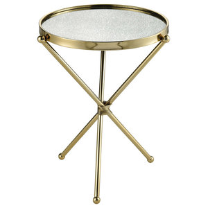 Incredible Diamond Sofa Reed Round Accent Table With White Marble Top Caraccident5 Cool Chair Designs And Ideas Caraccident5Info