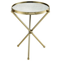 Narcissus End or Side Table, Gold With Antique Mirror