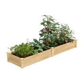"Greenes Original Cedar Raised Garden Bed, 2'x8'x10.5"""