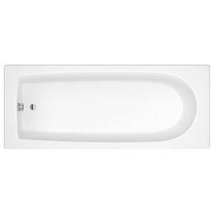 Athena Single Ended Acrylic Bath, White, Medium
