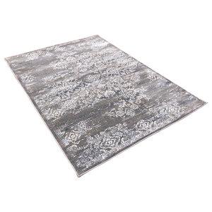 Strata Grey and Beige Rectangular Rug, 200x290 cm