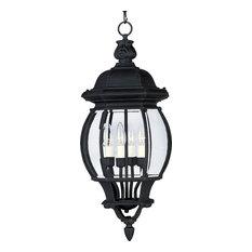 Crown Hill 4-Light Outdoor Hanging Lantern, Black