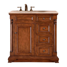 "36"" Modern Single Left, Sink Bathroom Vanity, Distressed Finish"