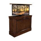 tv lift cabinet coronado made in usa antique caramel foot of bed 360 swivel tv