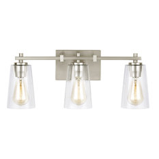 Feiss VS24303SN Mercer Bathroom Light, Satin Nickel