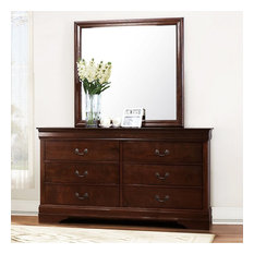 Homelegance Mayville 6-Drawer Dresser Brown Cherry